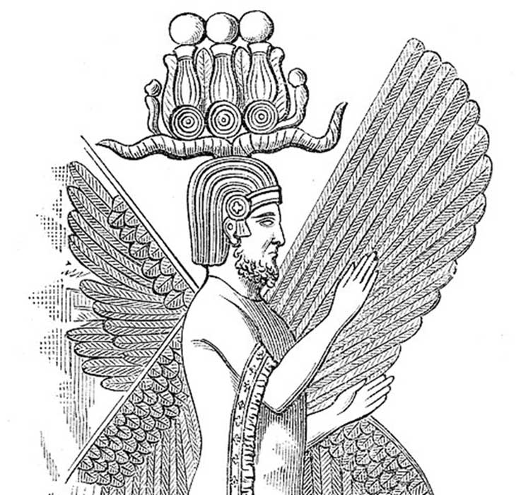 Illustration of relief of Cyrus the Great