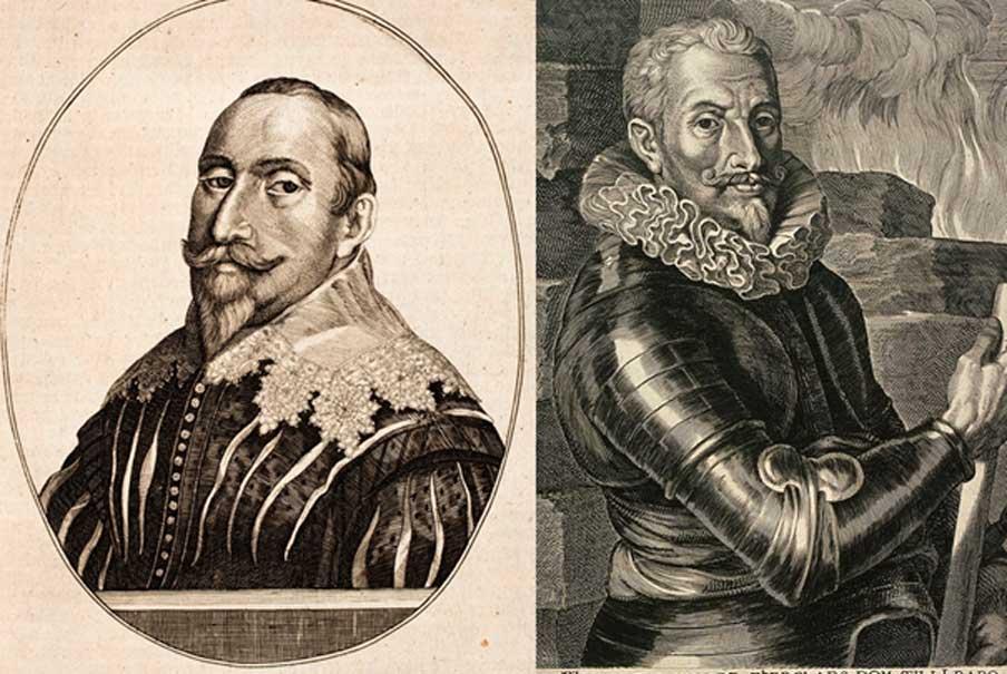 [Left] Engraving of Gustavus Adolphus (Public Domain) and [Right] portrait of Count Johann t'Serclaes von Tilly. (Public Domain)