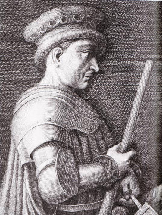 Engraving representing John Hawkwood.