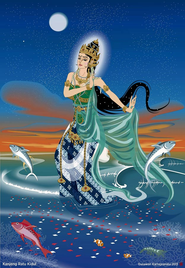 Kanjeng Ratu Kidul, the Queen of the Southern Sea of Java.