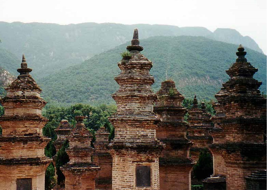 The Pagoda forest, about 300 meters west of the Shaolin temple in the Henan province, China.