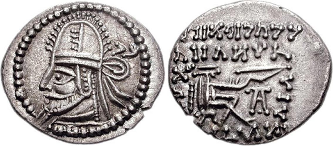 Coin of the Parthian king Artabanus IV. (Classical Numismatic Group, Inc.