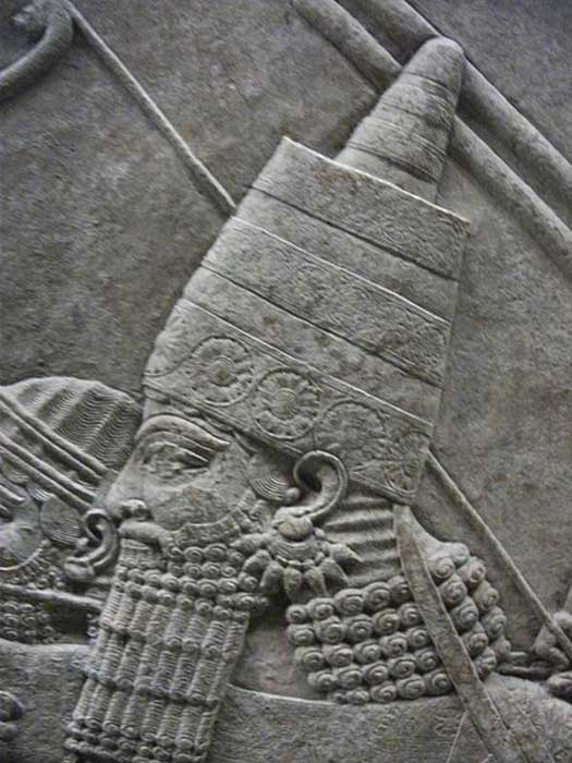 Ashurbanipal. The Royal lion hunt reliefs from the Assyrian palace at Nineveh, about 645-635 BC.
