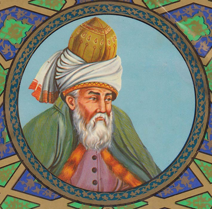 Artist's depiction of Rumi, 1890.