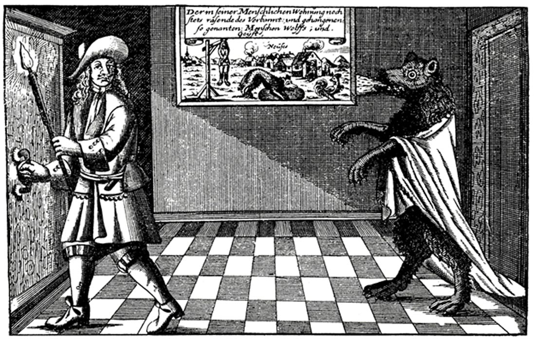 It was believed men could transform into werewolves either by night, or after their deaths. 1685.