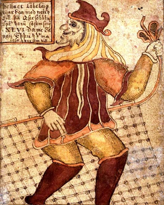 "A Norse mythology Trickster image from the 18th century Icelandic manuscript ""SÁM 66"" (Public Domain)"