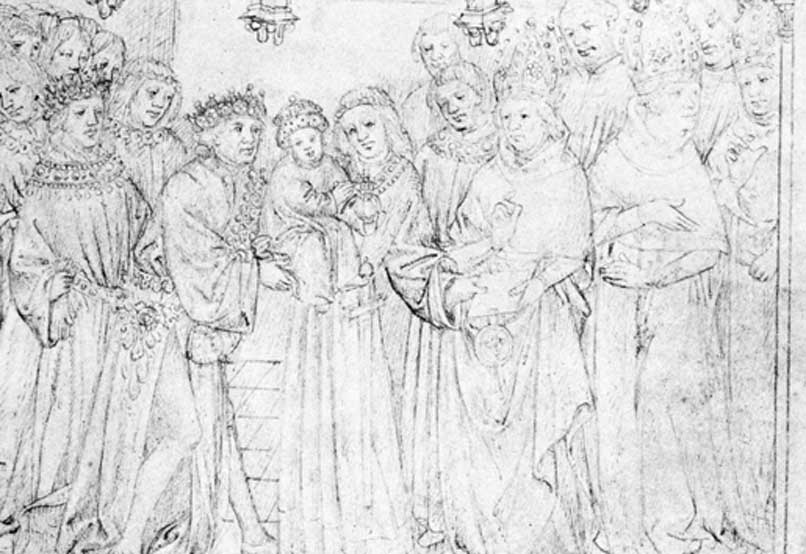 Accession of Henry VI. He is shown at the age of nine months.