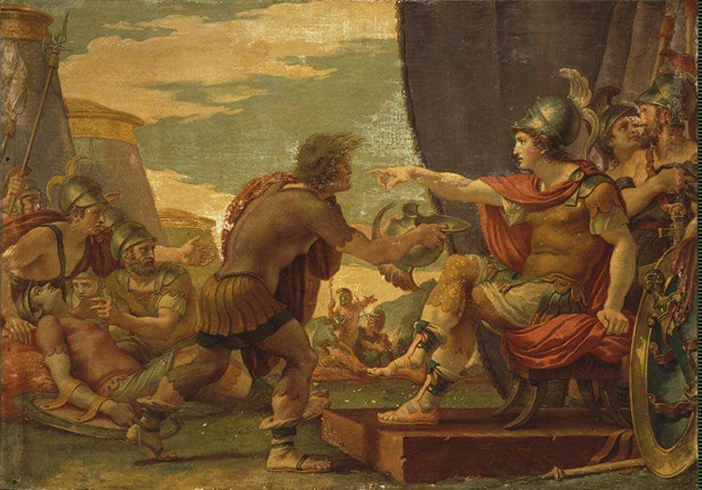 Alexander the Great Refuses to Take Water by Giuseppe Cades (1792)