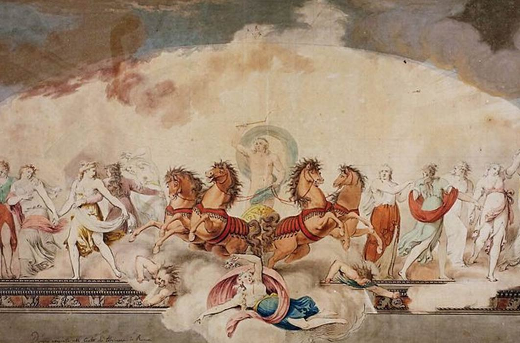 Apollo driving the Chariot of the sun and his muses by Giovanni Battista Maderna, IItalian, Verona (1758–1803) Metropolitan Museum of Art  (Anton biederwolf/ CC BY-SA 4.0)