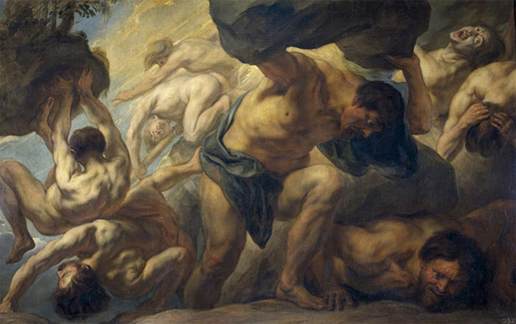 The Fall of the Giants by Jacob Jordaens (1636 – 1638) Museo del Prado (Public Domain)