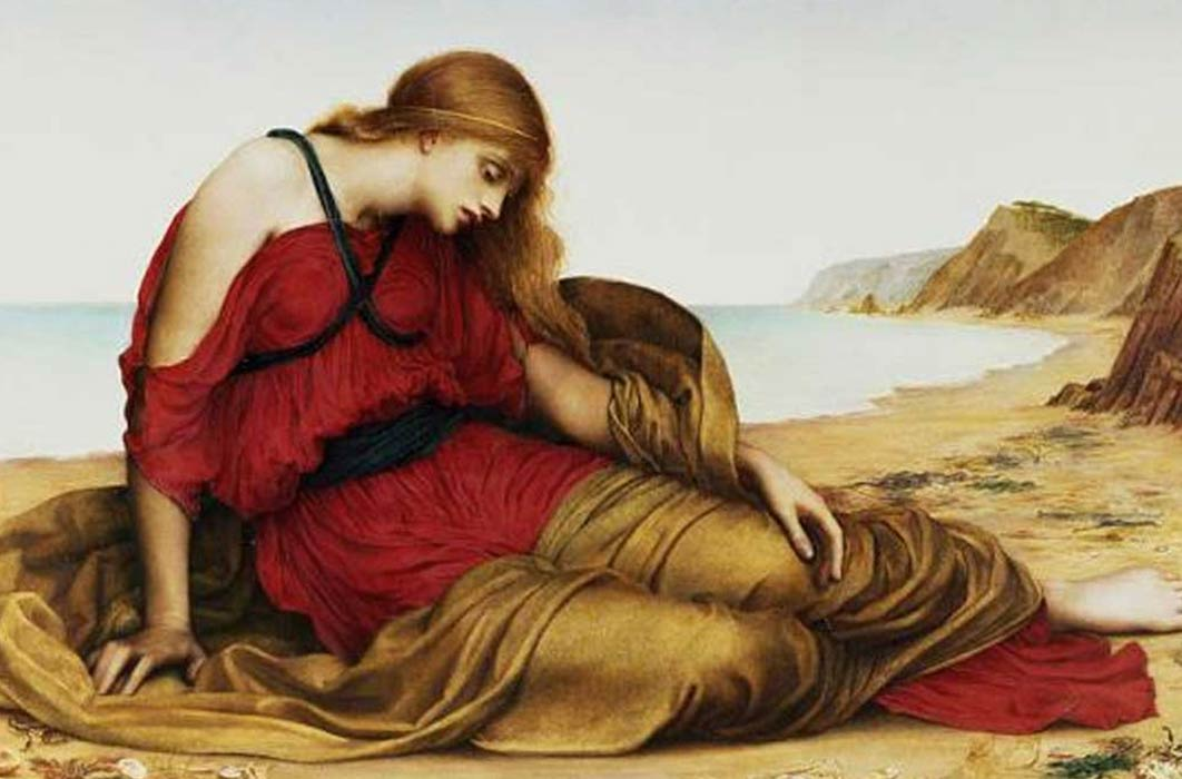 'Ariadne in Naxos' (1877) by Evelyn De Morgan. (Public Domain)