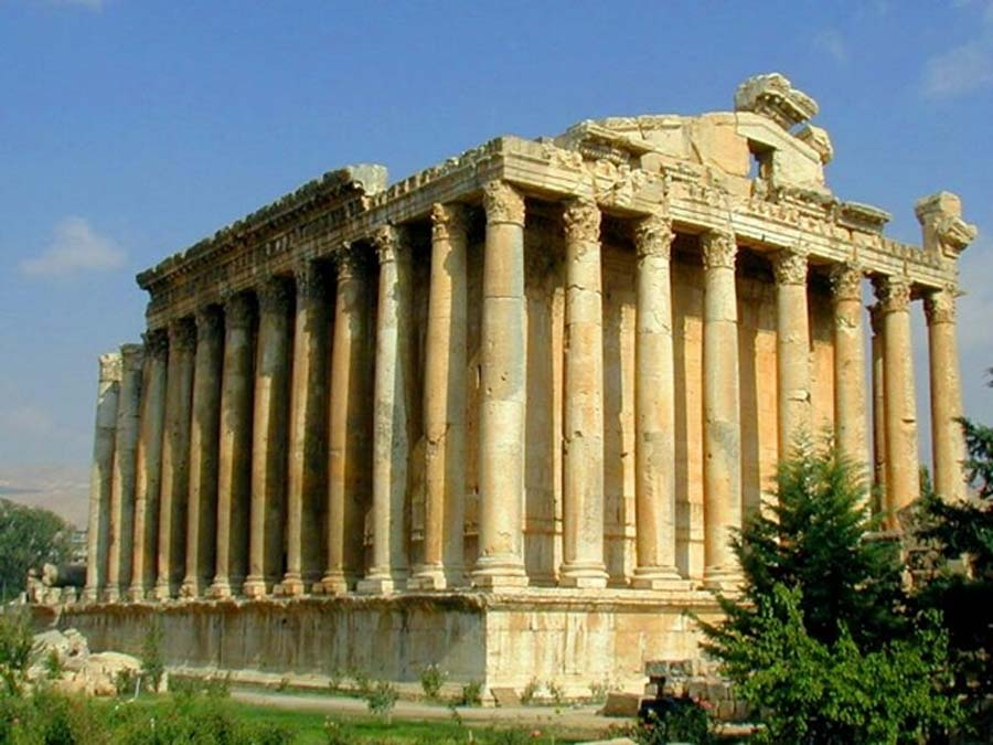 Baalbek temple complex boasts two of the largest Roman temple ruins: The Temple of Bacchus, as shown in this photograph and the Temple of Jupiter. (CC BY-SA 3.0)