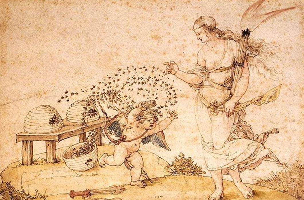 Cupid the Honey Thief by Albrecht Dürer (1514) Kunsthistorisches Museum (Public Domain)