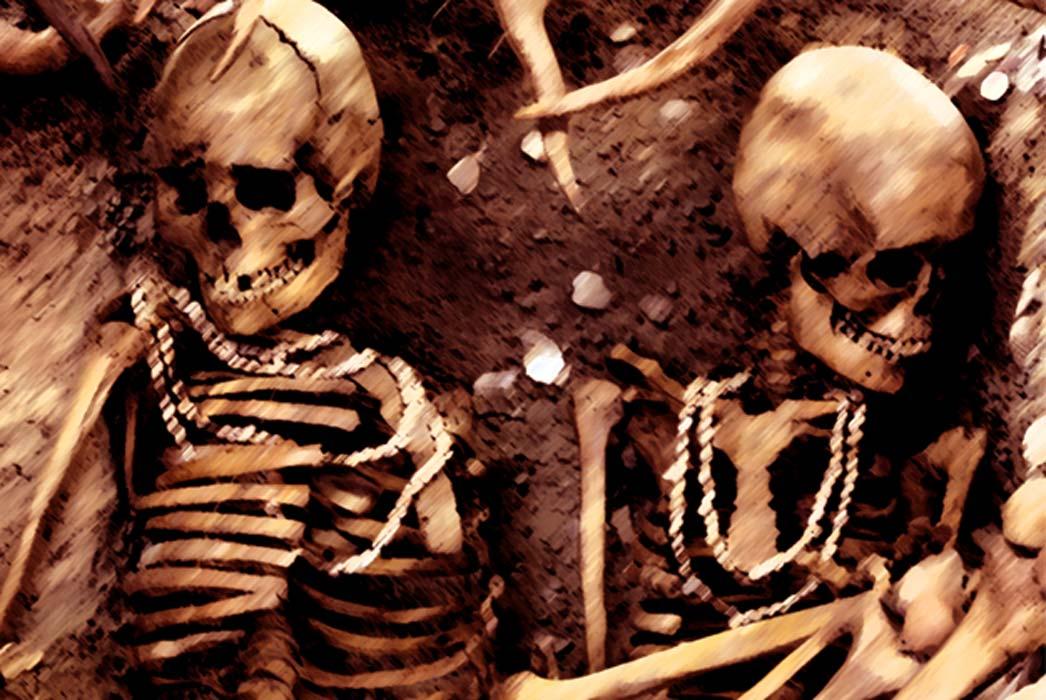 Reconstitution of a prehistoric burial. Representative image