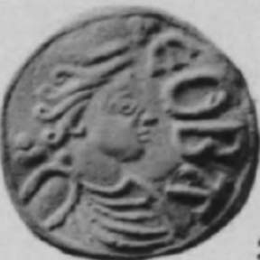 Bust of Queen Cynethryth, wife of Offa of Mercia. (Public Domain)