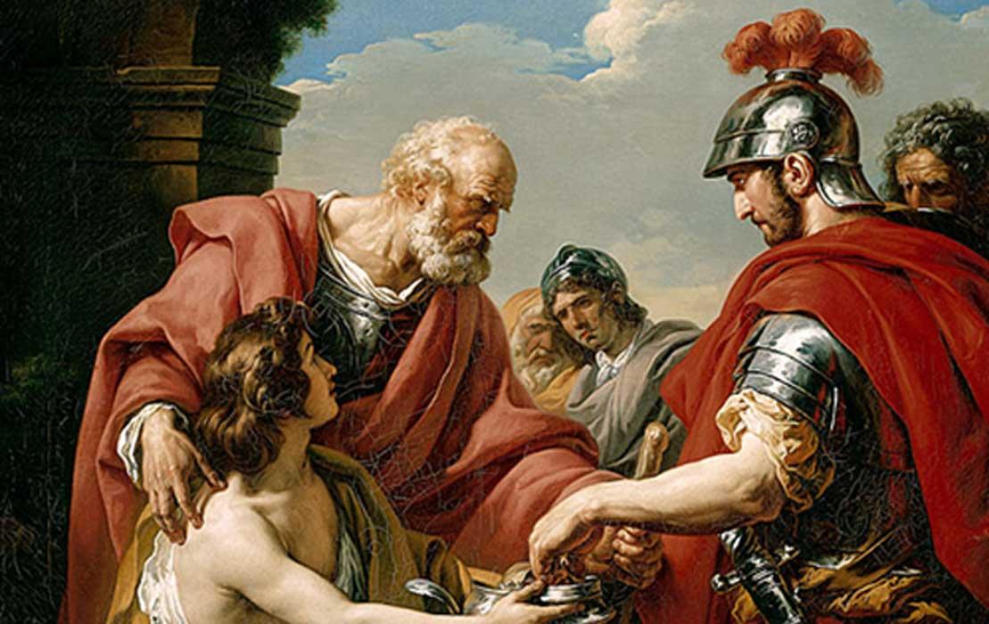 Belisarius by Francois-Andre Vincent 1776