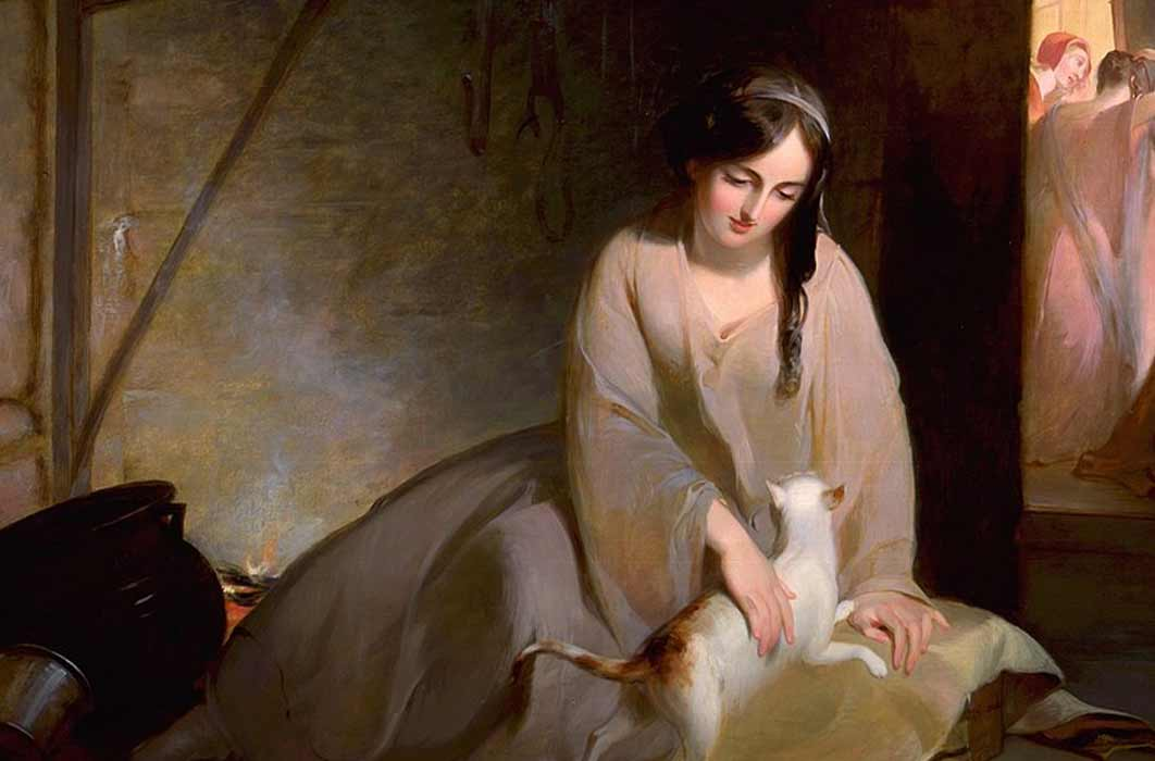 Cinderella at the Kitchen Fire, Thomas Sully, 1843 (Public Domain)