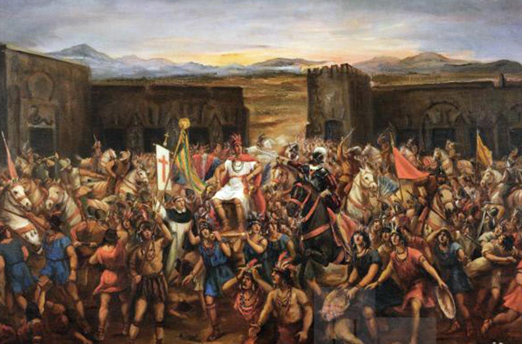 The Capture of Atahualpa. Juan B. Lepiani,  (1864-1932)(Public Domain)