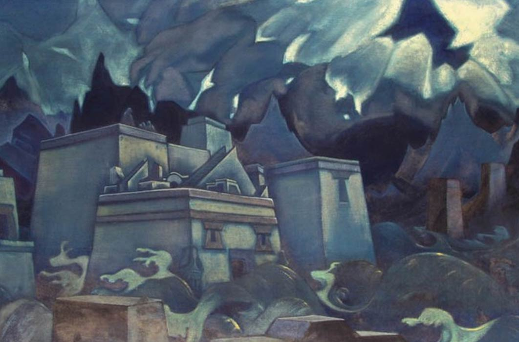 Gibel Atlantidy by N.Roerich (1929) (Public Domain)