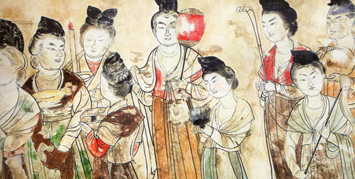 Court Ladies of the Tang Dynasty 706 CE.