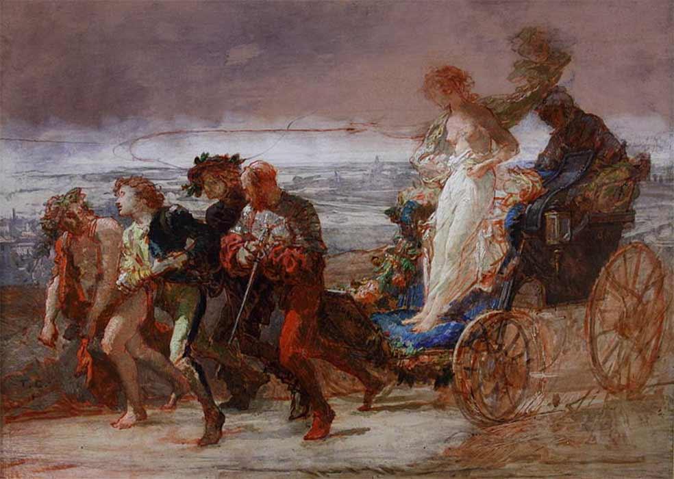 La Courtisane by Thomas Couture (1864) (Public Domain)