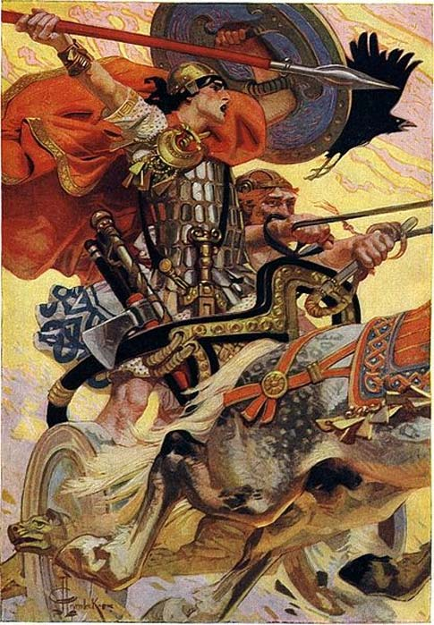 Cú Chulainn is the central character of the Ulster (Ulaid) cycle in the in medieval Irish mythology and literature.