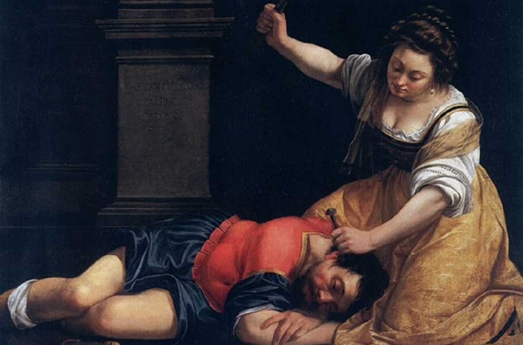Jael and Sisera by Artemisia Gentileschi (1620) (Public Domain)