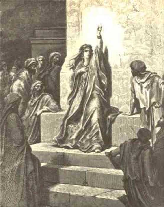 Deborah the Prophetess' interpretation by Gustave Doré (Public Domain)