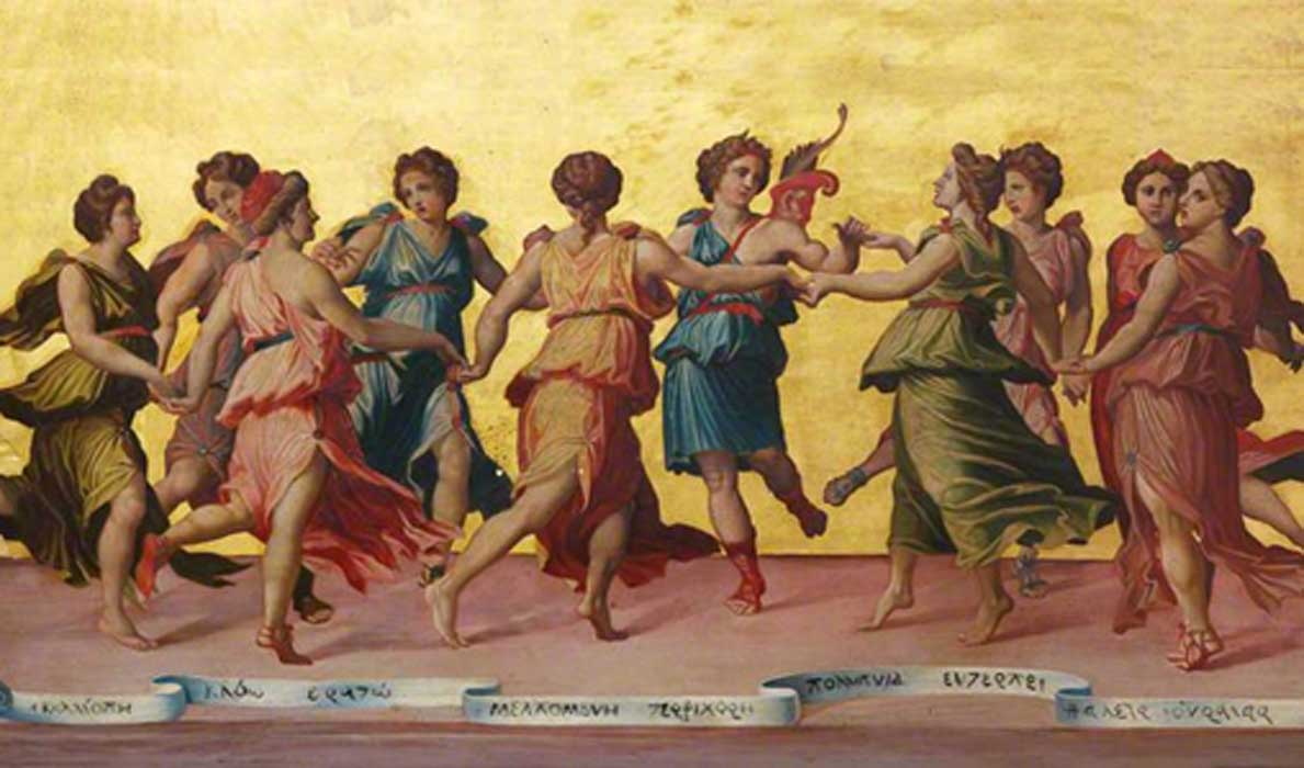 Apollo and the Muses by Robert Sanderson (1848 – 1908)