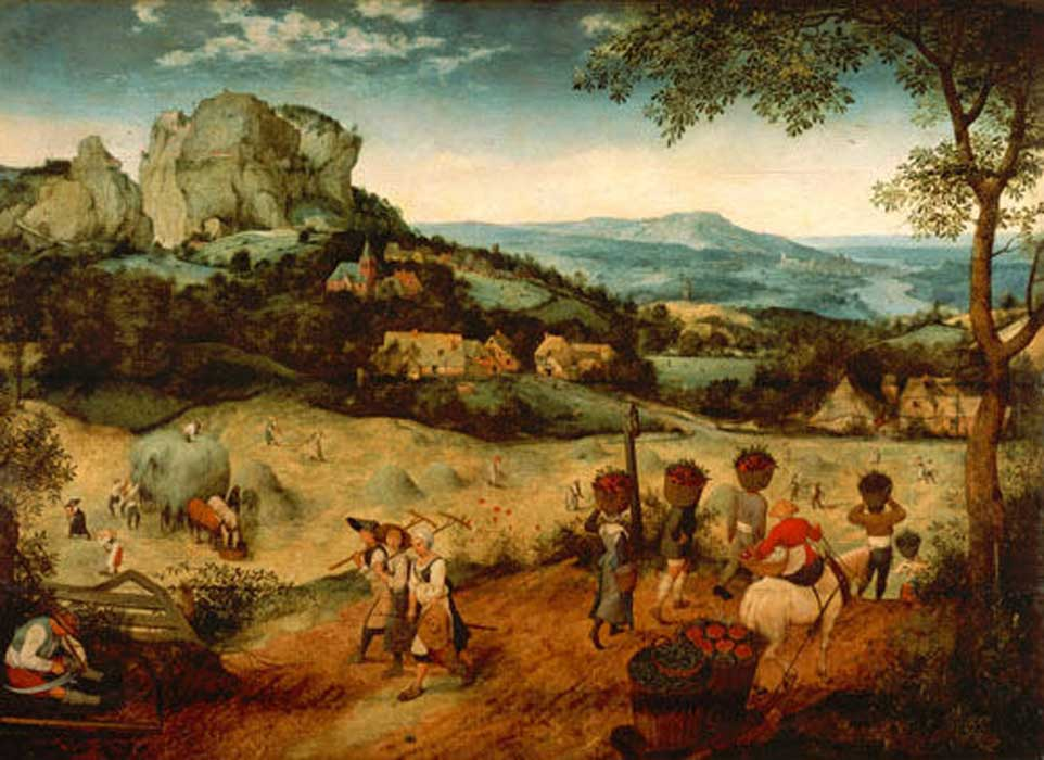 The Hay Harvest (1565), National Museum (Prague), Lobkowicz family collection in Lobkowicz Palace  by Pieter Brueghel the Elder (1565) (Public Domain)