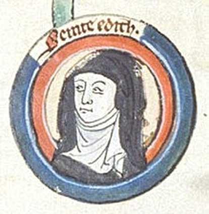 Edith of Wilton. 13th century. (Public Domain)