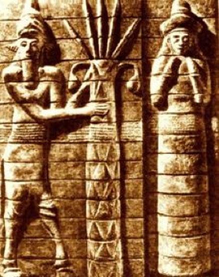 Enlil and Ninlil (Public Domain)