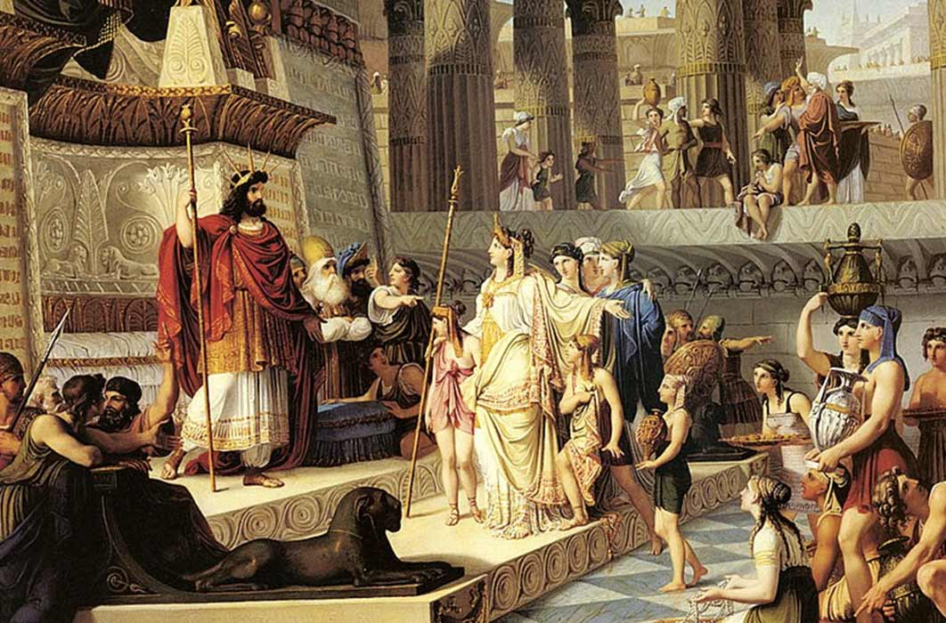 Solomon and The Queen of Sheba, Giovanni De Min (19th Century) (Public Domain)