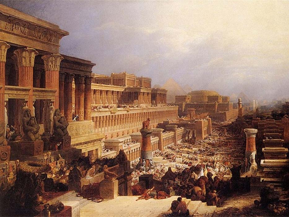 Departure of the Israelites by David Roberts, (1829)