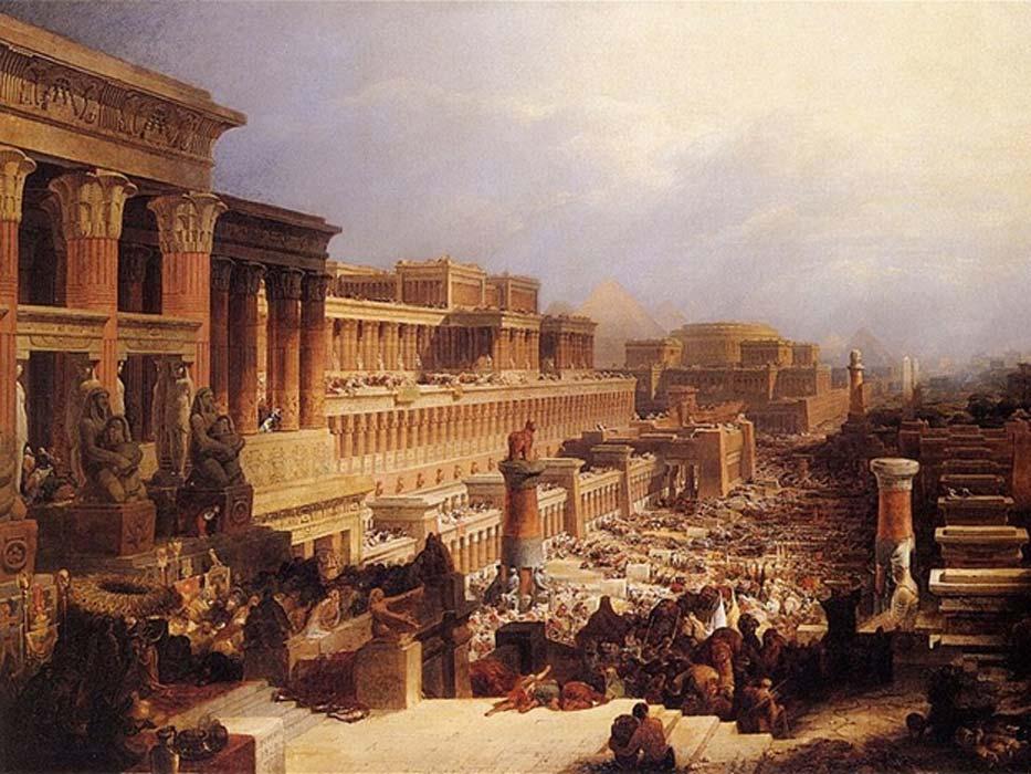 Departure of the Israelites by David Roberts, (1829)