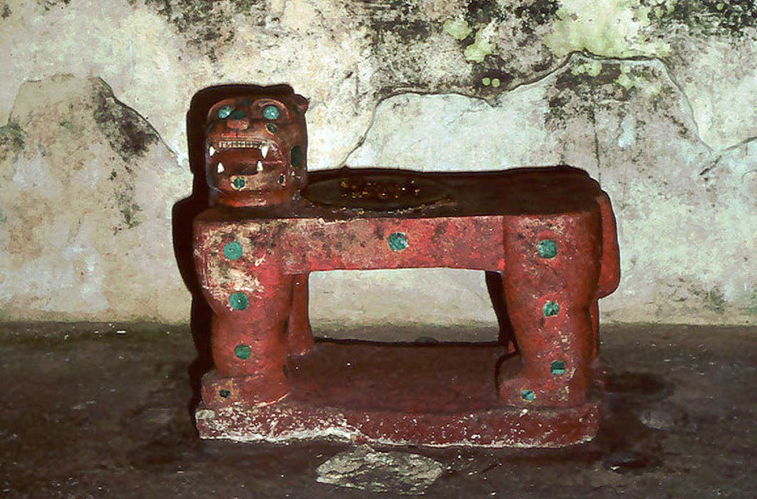 Kukulcan's Jaguar Throne, from the Maya site of Chichen Itza