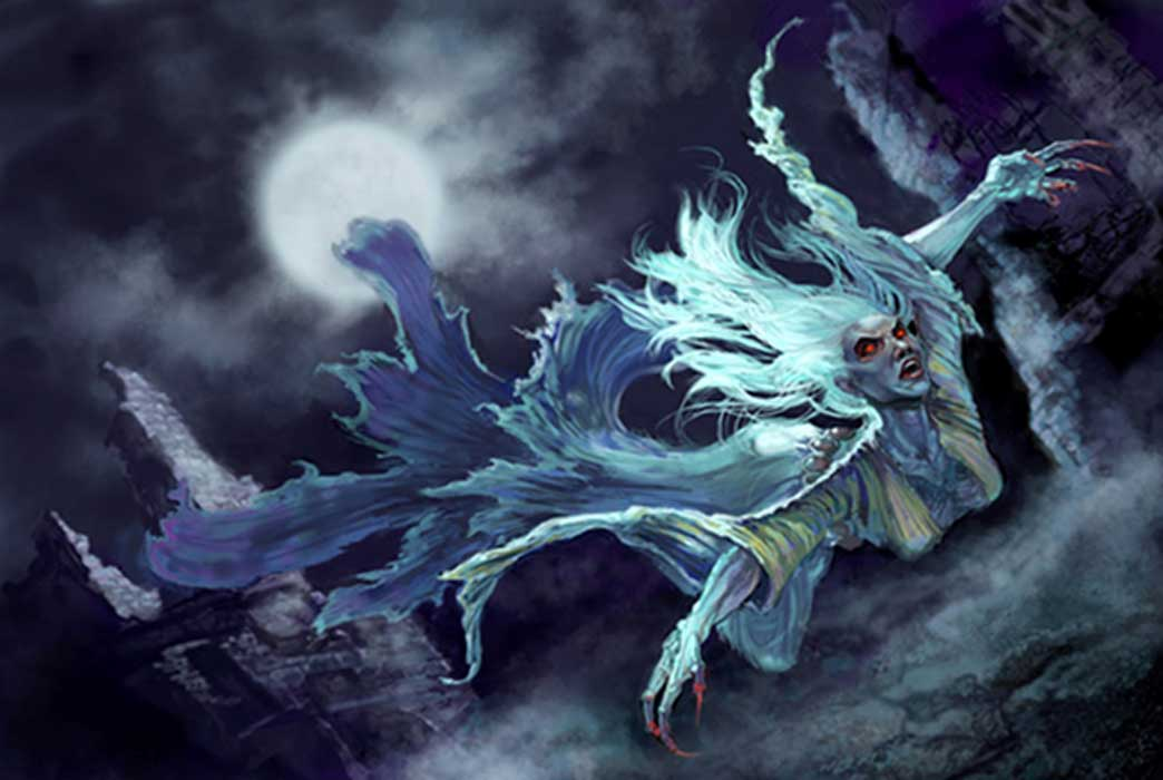A woman in white – the banshee of legend