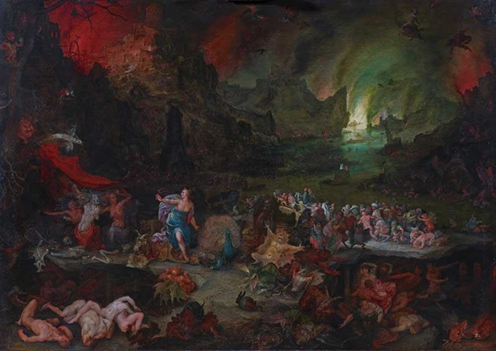 Juno in the Underworld by Jan Brueghel the Elder  (1568–1625)