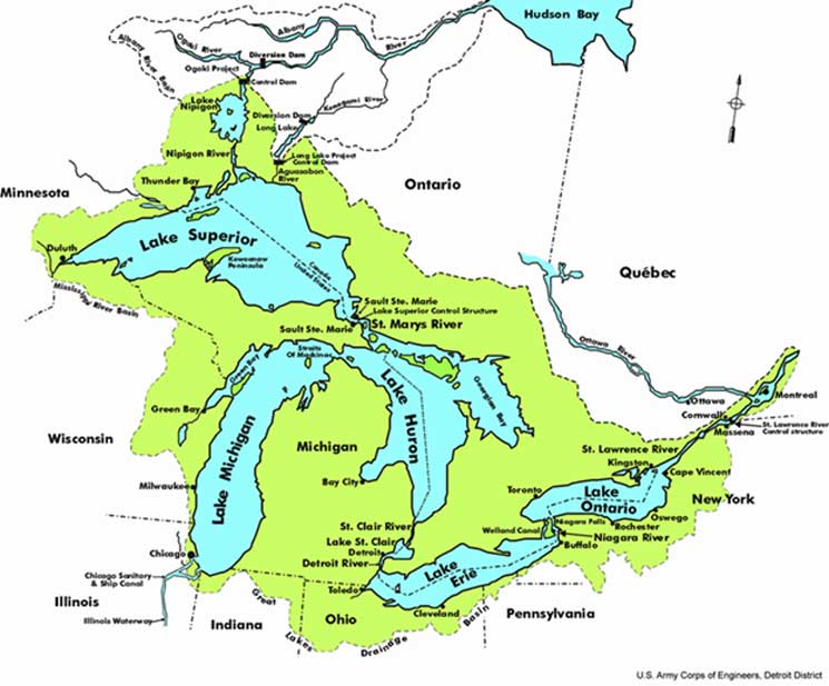 Great Lakes District of North America. (Public Domain)