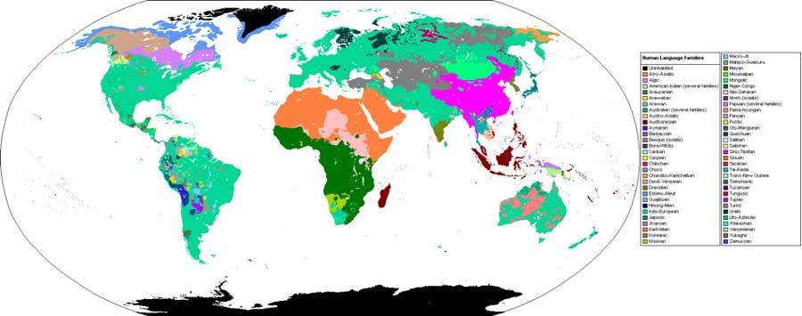 Human Language Family Map (CC BY-SA 3.0)