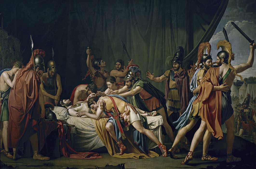 José de Madrazo's painting of the death of Viriathus