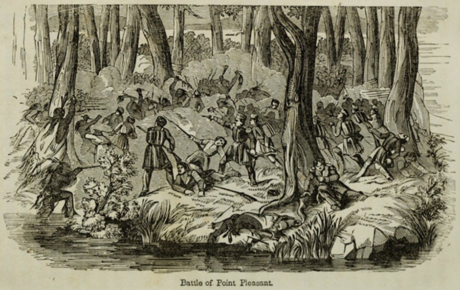 Illustration of Battle of Point Pleasant. 1854 (Public Domain)