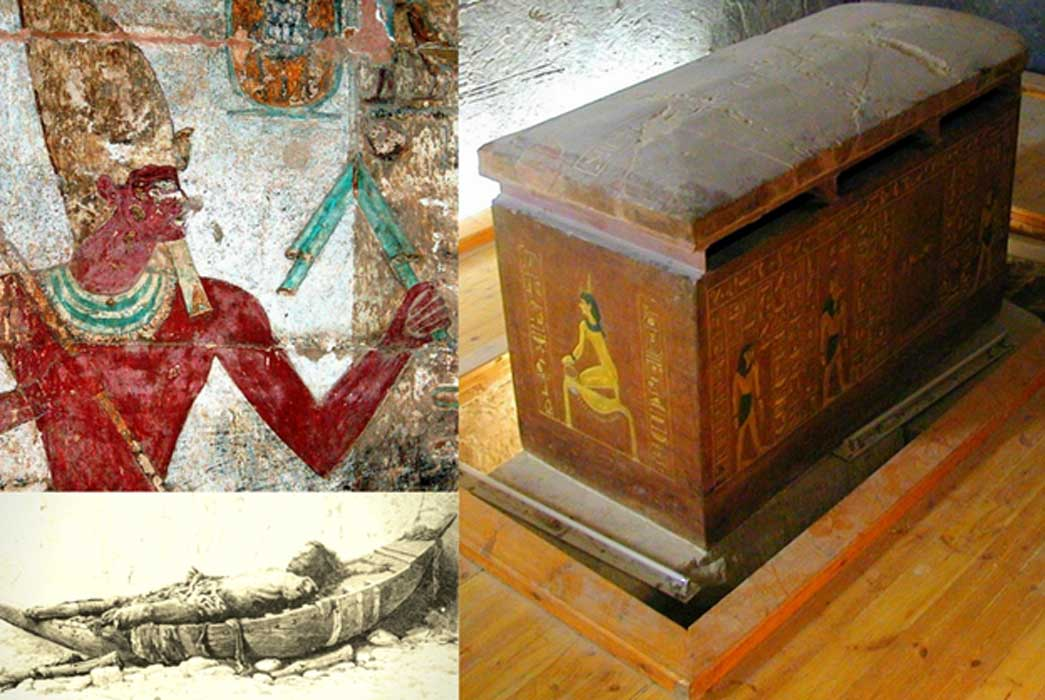 Collection of Egyptian Art, design by Anand Balaji (Photo credits: Dennis Jarvis/CC BY 2.0, Victor Loret/Wikimedia Commons, Richard Dick Sellicks); Deriv. By: Anand Balaji