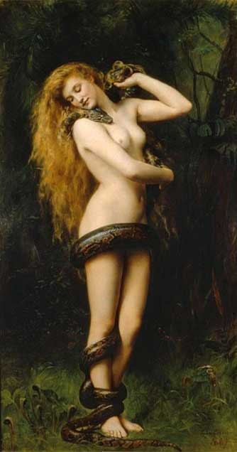Lilith, by John Collier, 1887. (Public Domain)
