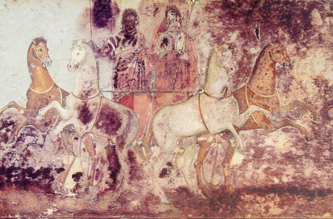 Scene from the tomb of Queen Eurydice, Vergina, Greece (c 340 BC) (Public Domain)
