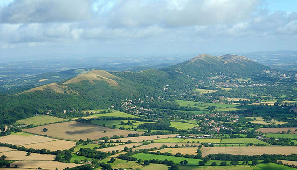 The Malvern Hills in England. Alfred Watkins believed a ley-line passed along their ridge connecting a string of ancient places. (CC BY-SA 2.0)