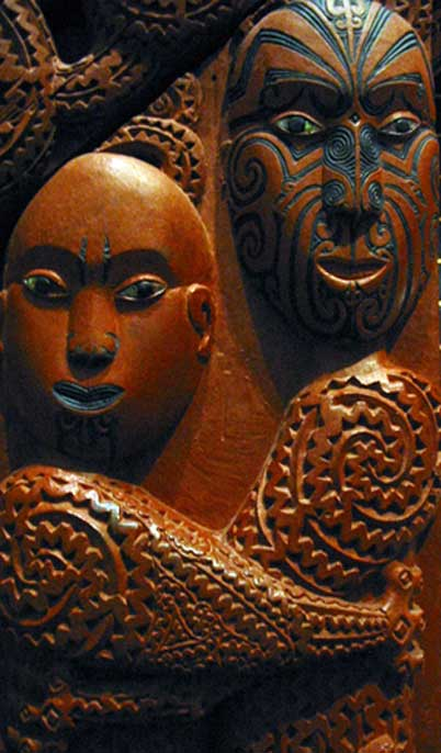 In one Maori creation myth, the primal couple are Rangi and Papa, depicted holding each other in a tight embrace. (Public Domain)
