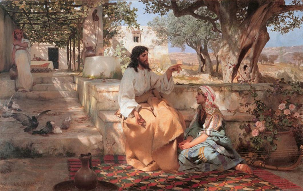 Christ in the House of Martha and Mary by Henryk Siemiradzki  (1886) (Public Domain)