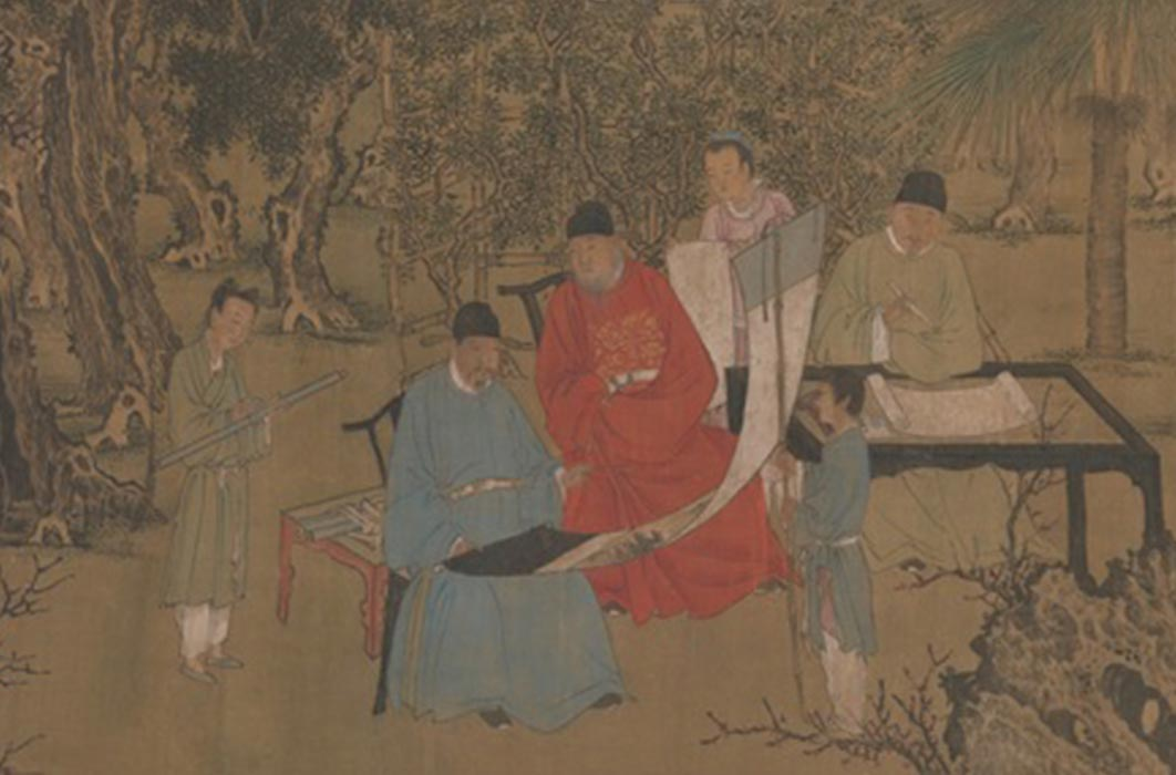 Elegant Gathering in the Apricot Garden (1437) Metropolitan Museum of Art (CC0)