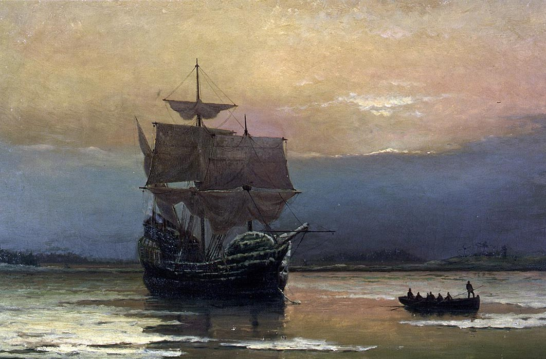 The Mayflower was not a warship, but it brought about the annihilation of indigenous people.